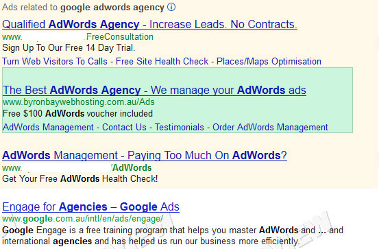 AdWords ad demo
