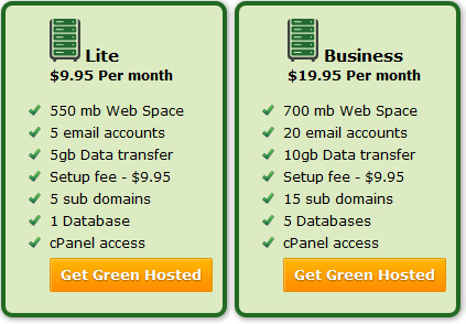 Lite & Business Hosting plans