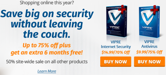 VIPRE Save big on security