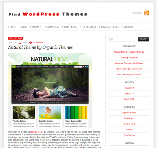 Find WordPress Themes